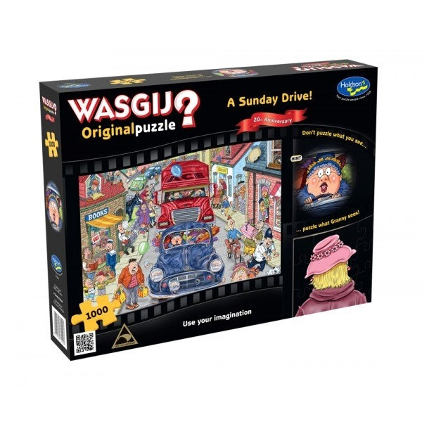 Wasgij Original: A Sunday Drive 20th Anniversary 1000pc Jigsaw Holdson
