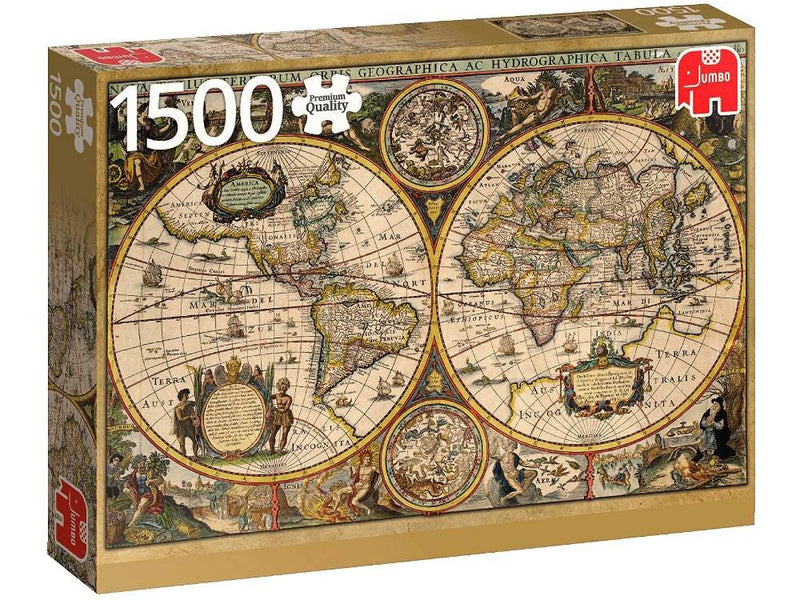 World Map From 1630: 1500pc Jumbo