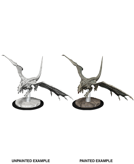 D&D Nolzurs Marvelous Unpainted Miniatures Young White Dragon