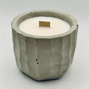 Concrete Soy Candle with Wood Wick