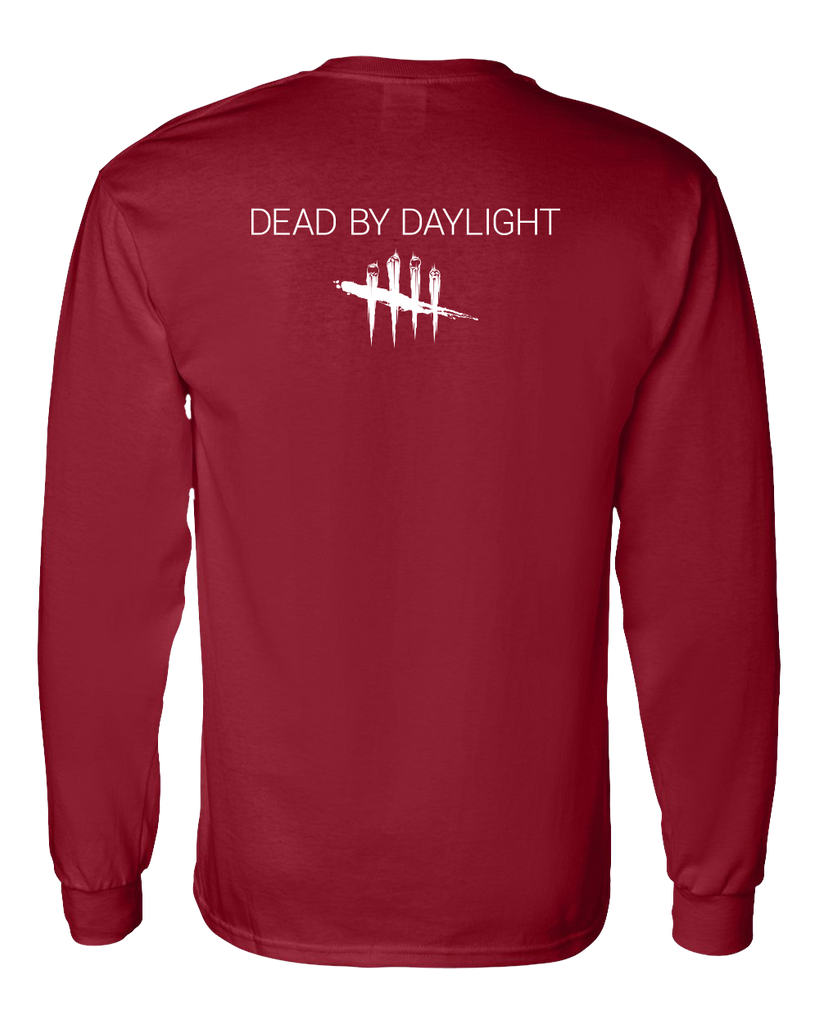 Dead by Daylight Mad Grit Long Sleeve T-Shirt - Red with white Logo