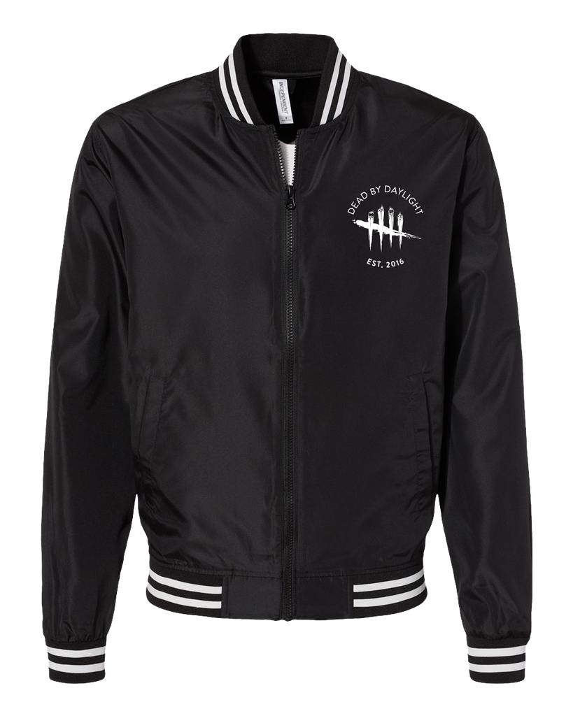 Dead By daylight Varsity Bomber Jacket - Black with white logo