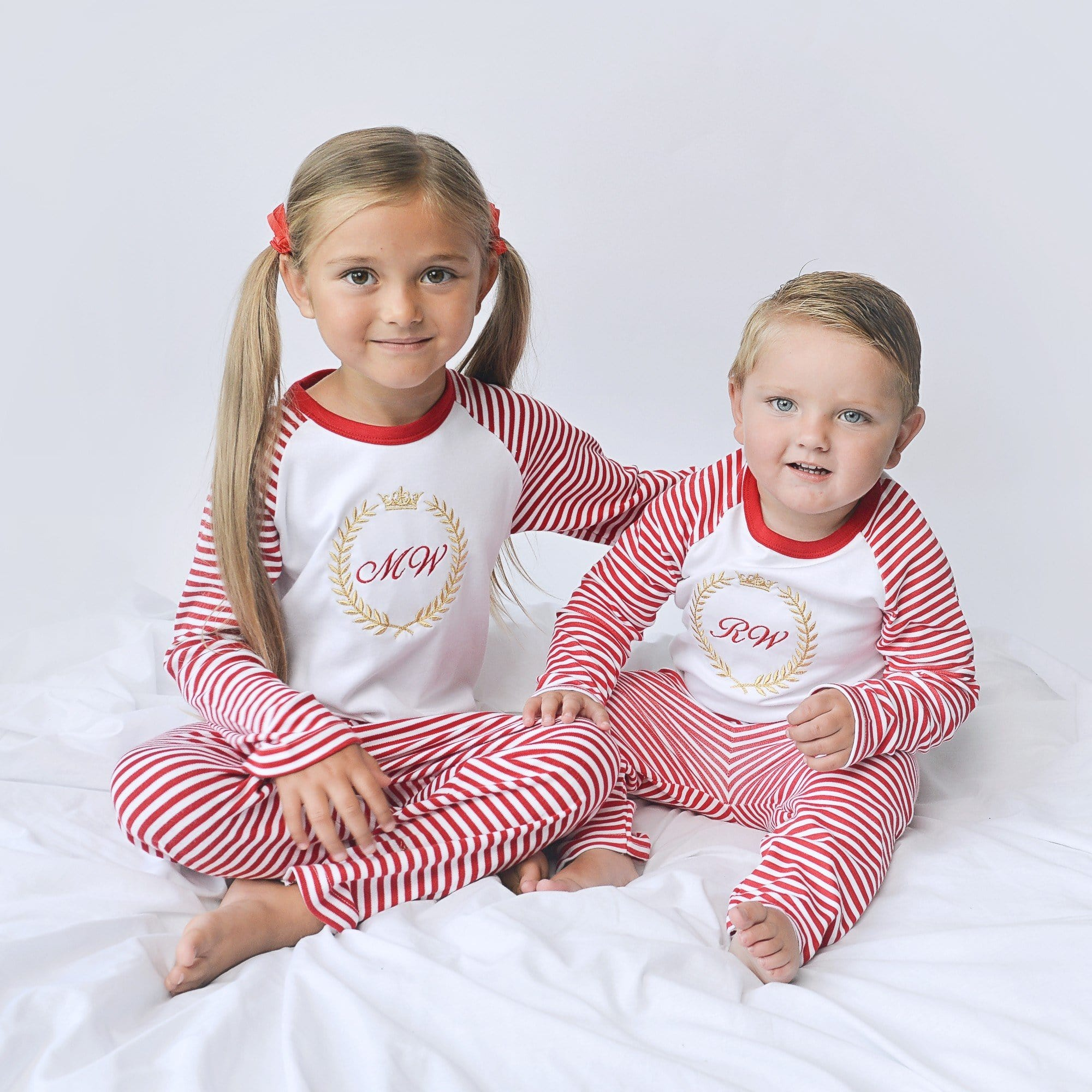 Royalty Red Striped Pyjamas
