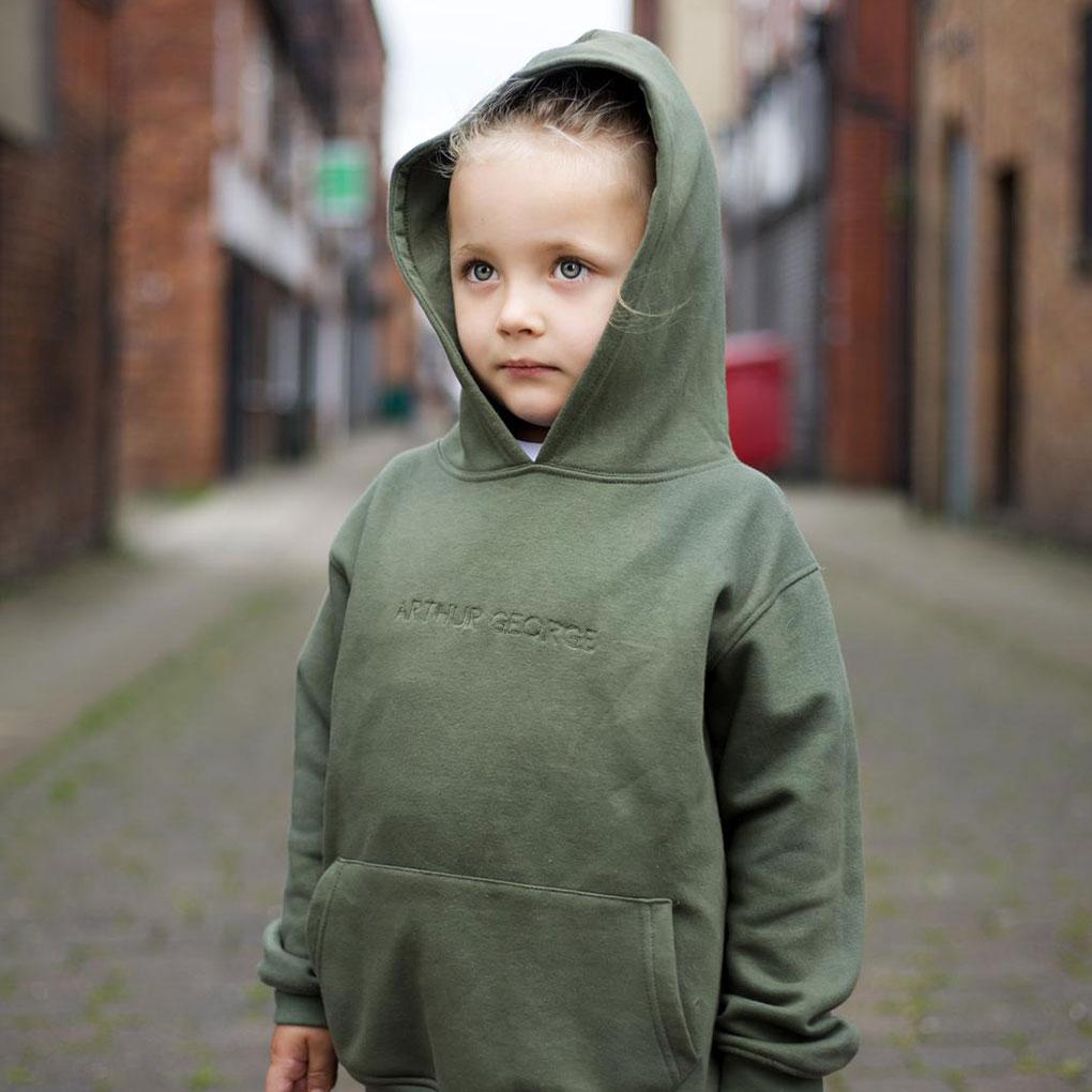 Younger Boys Pullover Hooded Tracksuit