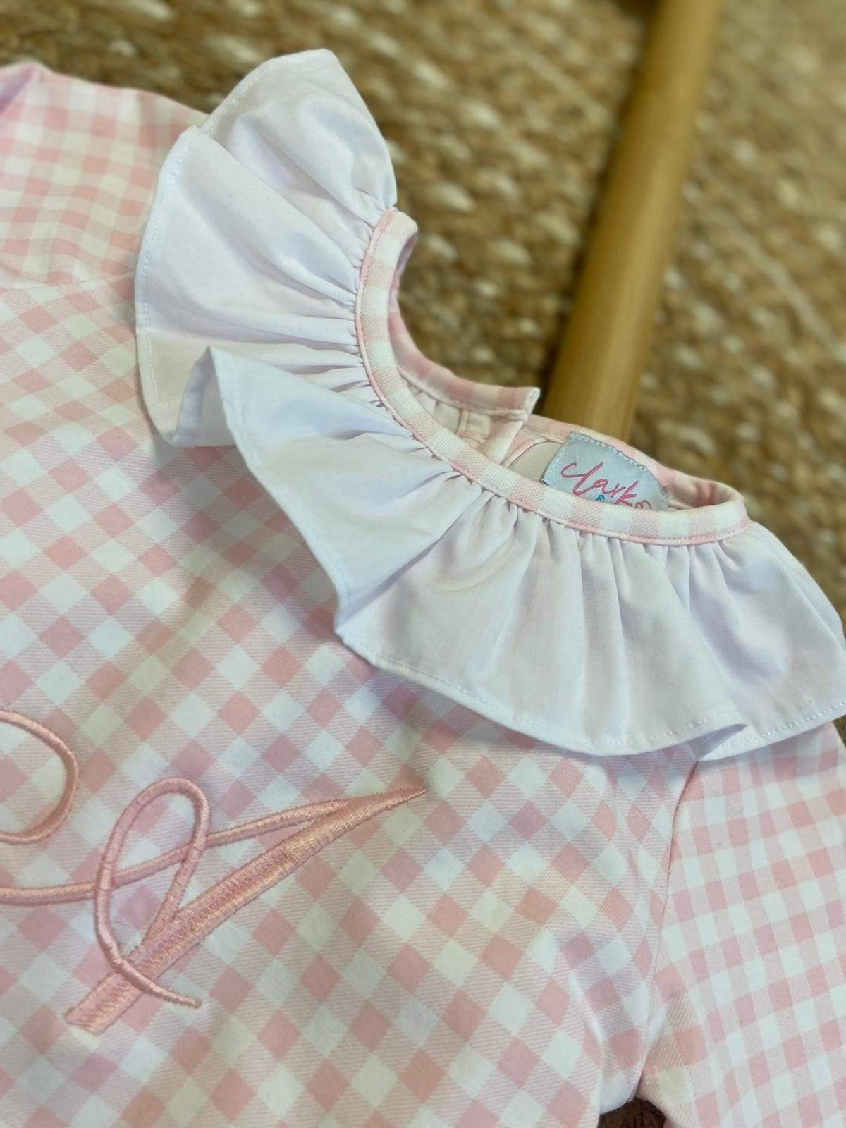 Clark and Beau Exclusive - Girls Pink Gingham Dreams Set