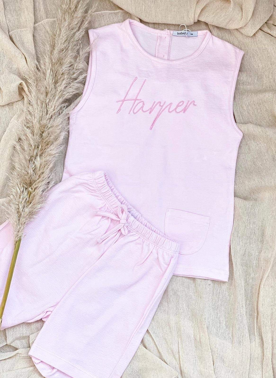 Babidu Baby Pink Two Piece