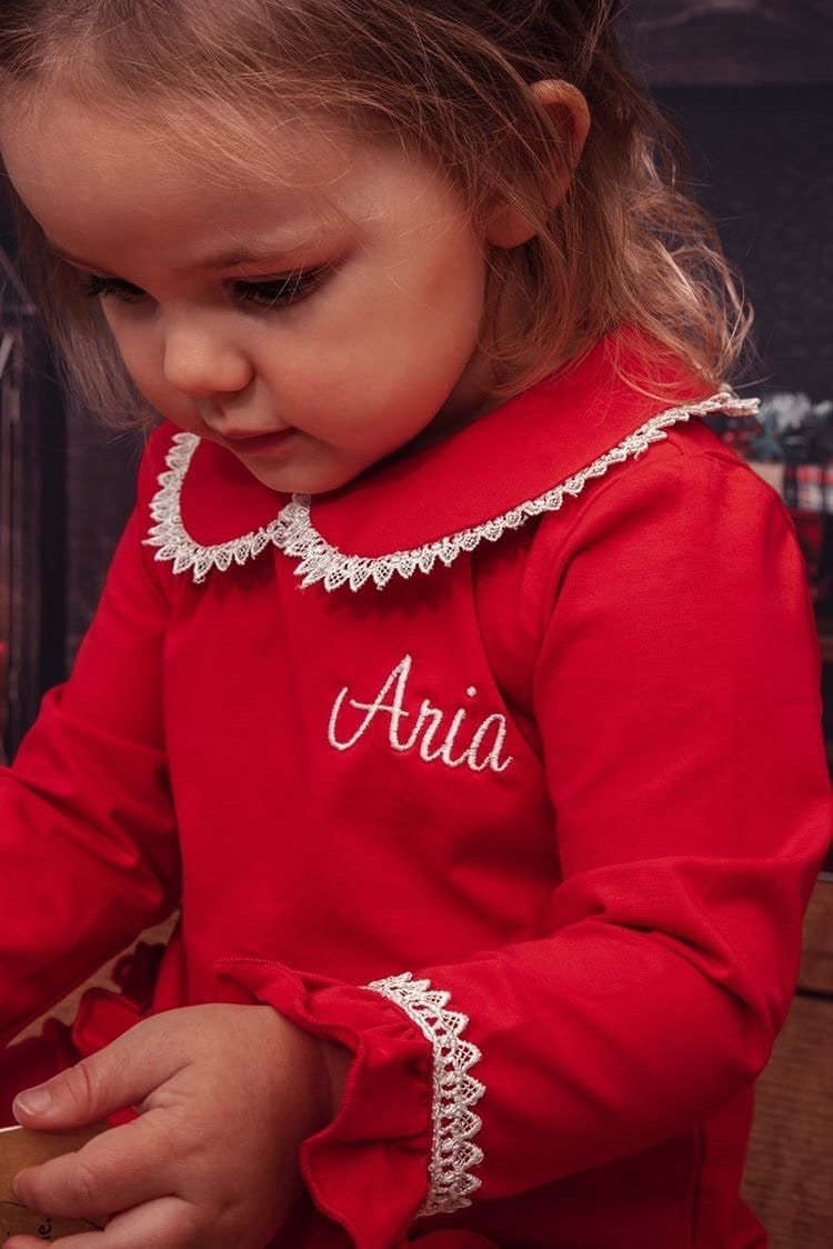 Clark and Beau Exclusive Red Girls Loungewear - Pre Order