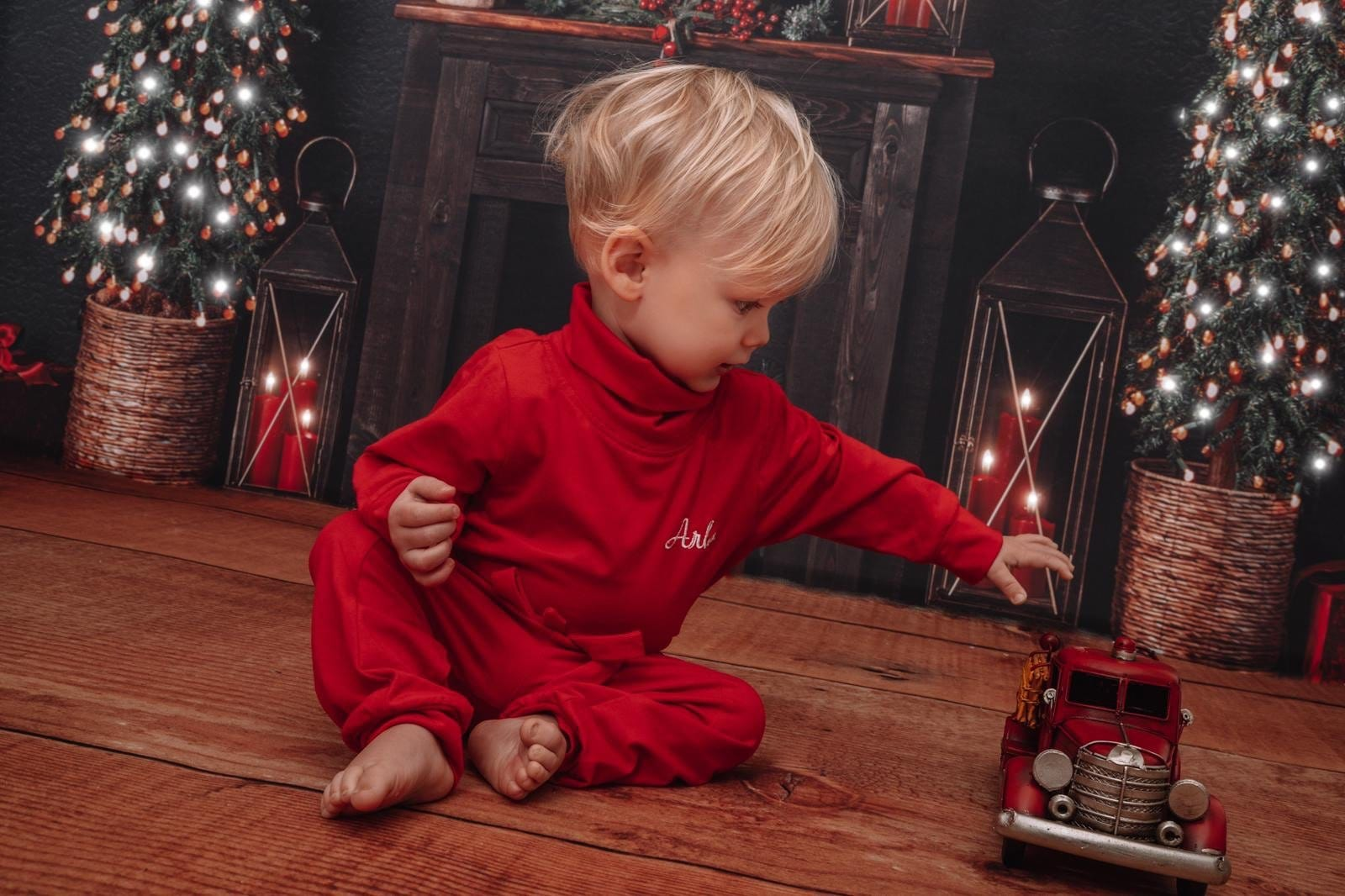 Clark and Beau Exclusive Red Boys Loungewear