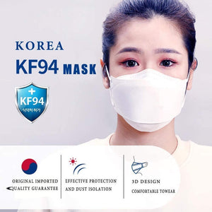 Goodmanner Mask KF94 (100 Pack), White-FREE SHIPPING / Health Canada Authorized.