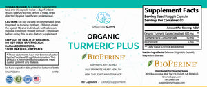 3 Bottles of ORGANIC TURMERIC PLUS & BIOPERINE<br> 25% Discount <br>FREE SHIPPING
