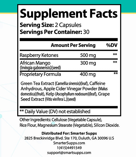 1 Bottle of Keto Enhance <br> Rasberry Ketones and African Mango - FREE SHIPPING