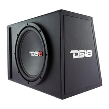 "Load image into Gallery viewer, BASS PACKAGE 12"" SUBWOOFER IN MDF ENCLOSURE WITH AMPLIFIER AND INSTALLATION KIT 650 WATTS LOADED"