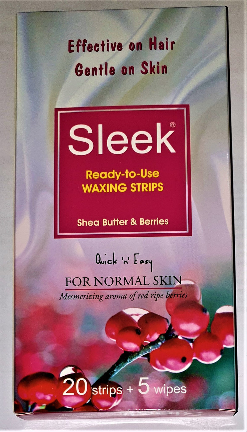 Sleek Waxing Strips for Normal Skin - Shea Butter Berries -20 Strip