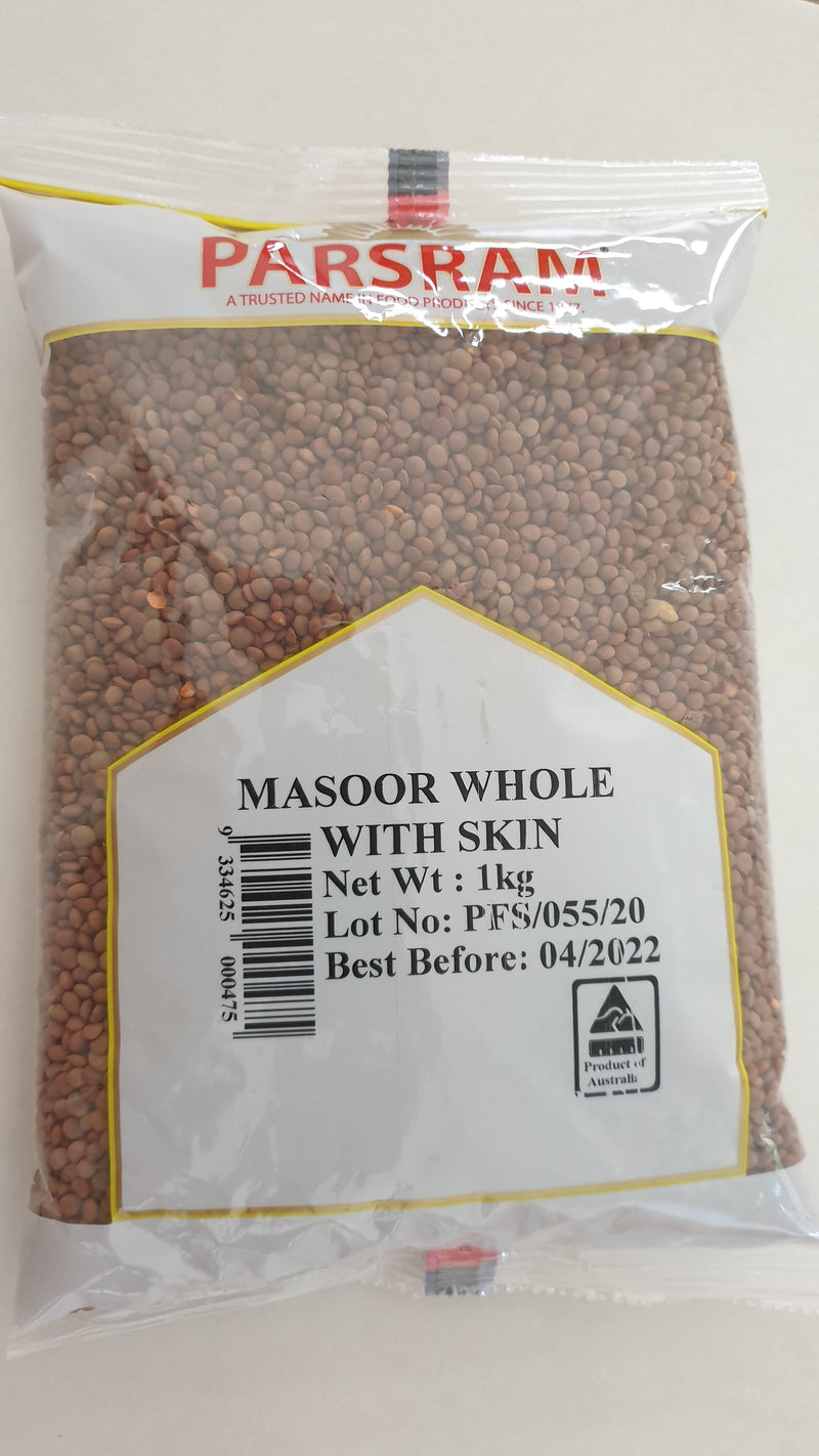 Whole Red Lentils | Masoor Whole With Skin
