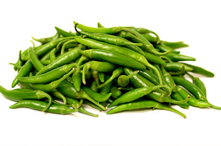 Fresh Green Chillies - Spicy | Hari Mirch | Hirvi Mirchi