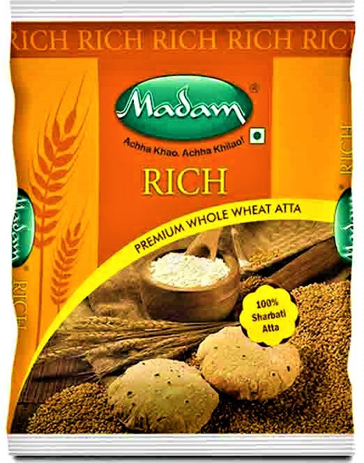 Madam Rich Premium Wheat Atta | Whole Wheat Atta 5 kg