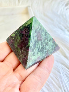 Ruby Zoisite Pyramid