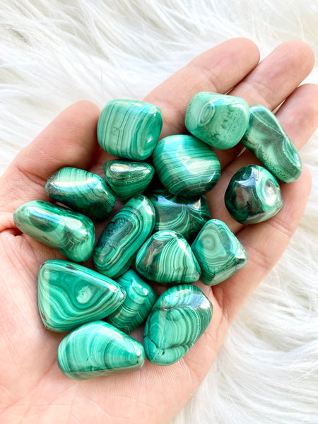 Malachite Tumbled
