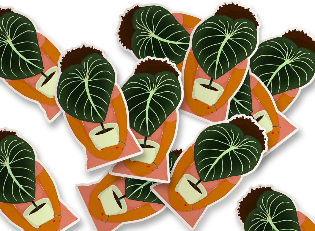 Philodendron Girl Sticker