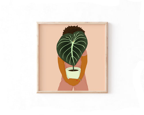 Philodendron Girl Print - Erika Right True Studio