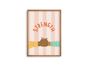 Strength Love + Resilience Print - Erika Right True Studio