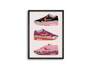 Bold Air Max 1 Sneaker Print - Erika Right True Studio