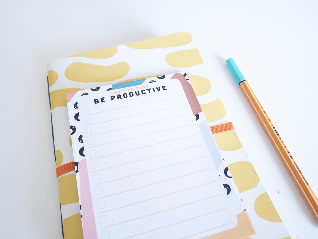 Be Productive To-do List Notepad