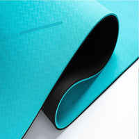 Single/Double Color Non-Slip Yoga Mat With Position Line