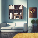 SenewPrint Canvas Wall Art,vaas met theerozen111