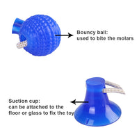 Pet Molar Bite Toy Cats Dogs Tug Rope Ball Chew Toys Pet Tooth Cleaning With Suction Cup Self Interactive Toys for Dog Puppy