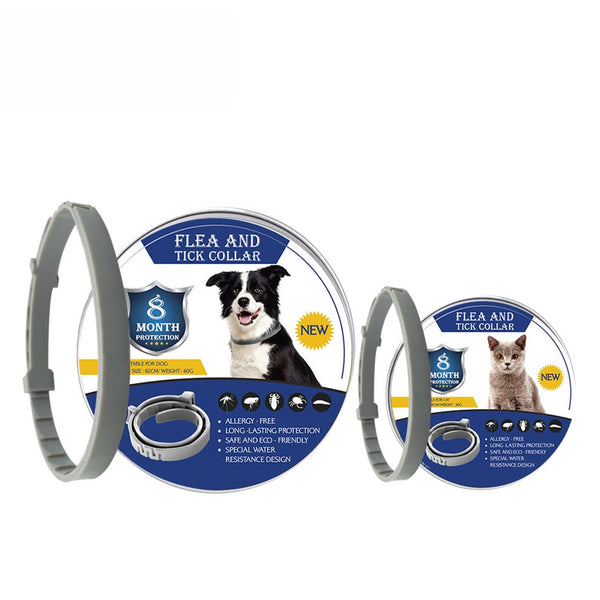 2019 Removes Flea And Tick Collar Dogs Cats Up To 8 Month Flea Tick Collar Anti-mosquito and insect repellent