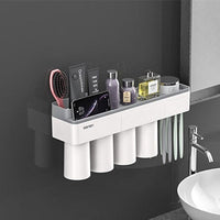 LEDFRE Toothpaste holder suction cup Wall Mounted Toothpaste Squeezer Holder Cleanser Storage Rack Bathroom Accessories Set