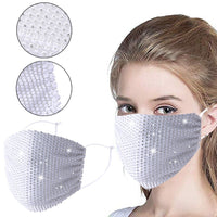 Scarf Diamond Face Maks Adult Reusable Face Nose mouth covering Adjustable  washable Reusable fashion Scarf masker Mascarillas