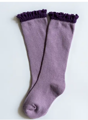 Purple + Plum Lace Top Knee Highs - Elo+Mena