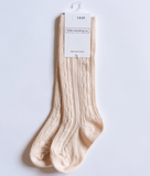 Vanilla Cream Knee High Socks - Elo+Mena