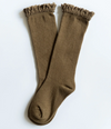 Olive Lace Top Knee Highs - Elo+Mena