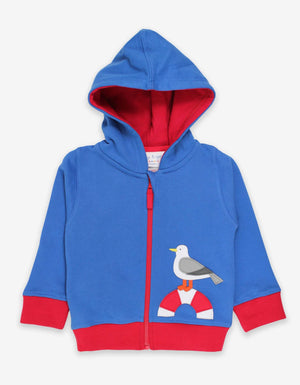 Organic Seaside Applique Hoodie - Elo+Mena