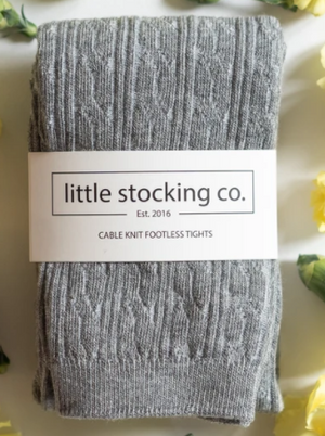Grey Footless Tights - Elo+Mena