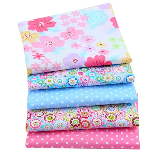 5 Pcs/lot Twill Fabric Bundled Fabric K Sewing100% Cotton Twill Fabric DIY Handmade Quilting Patchwork Fat Quarters Bundls of Cloth Sewing Scrapbooking