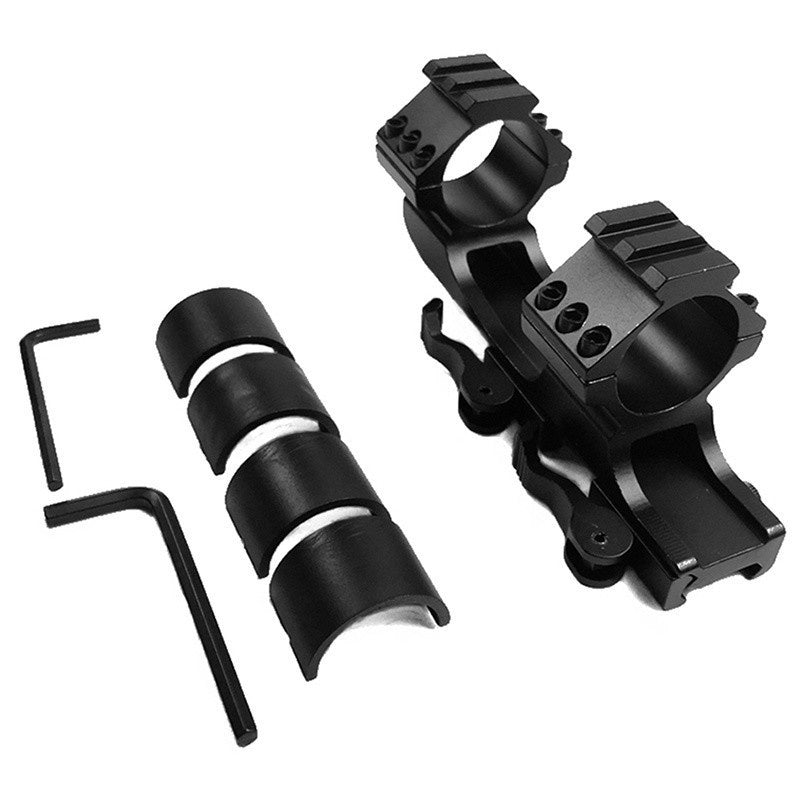 Hunting Accessories Double Cantilever Ring Mount Picatinny Weaver Scope Rail Mount QD Cam Locks with Adapter 25.4 mm 30 mm