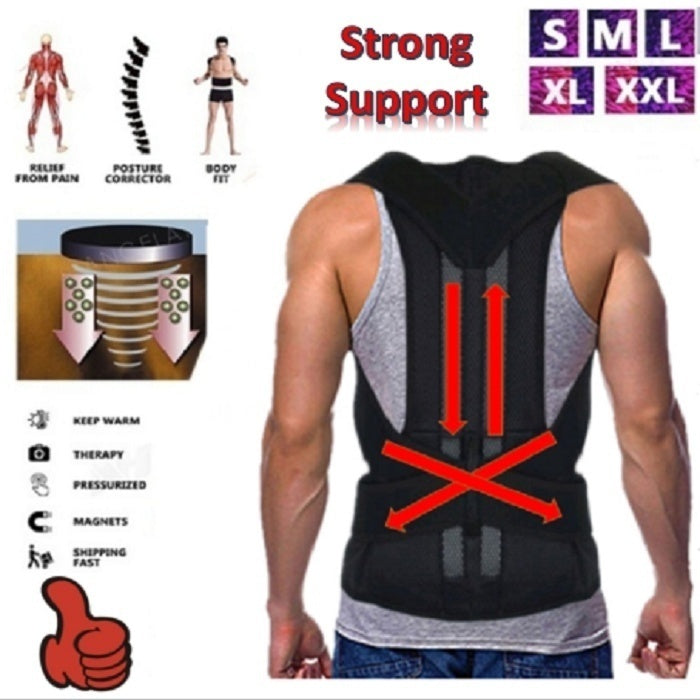 Helpful Adult Backache Relief Men And Women Posture Correction Belt With Support Plate Kyphosis Correction Band Posture Corrector Corset