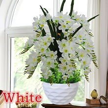 Load image into Gallery viewer, Artificial Flower Butterfly Orchid Potted Plant Decoration