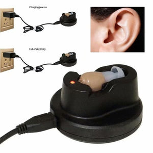 Rechargeable Digital Mini In Ear Hearing Aid Adjustable Amplifier Audiphone