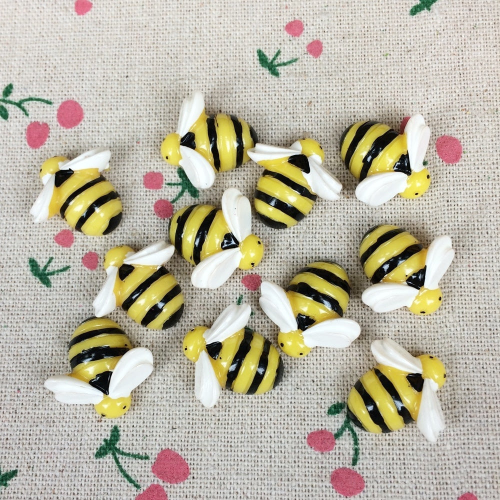 10Pcs/set Flat Back Resin Cabochon Animal Bee DIY Flatback Scrapbooking Accessories Embellishment Decoration Craft Making