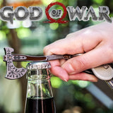 Game God of War 4 Cosplay Prop Keychain Serpent Bottle Opener Kratos Leviathan Axe Alloy Key Rings Accessories