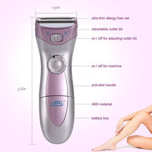 Load image into Gallery viewer, Electric Rechargeable Women Razor Hair Epilator Shaver Use for Arm Leg Bikini.