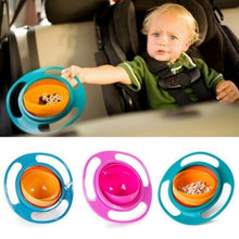 Load image into Gallery viewer, Portable Baby Feeding Dish Cute Baby Gyro Bowl Universal 360 Rotate Spill-Proof Bowl