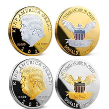 Load image into Gallery viewer, Trump 2020 Coins Keep America Great Gold&Silver President Eagle Coin 2020 Donald Trump Election Coin Collection Souvenir