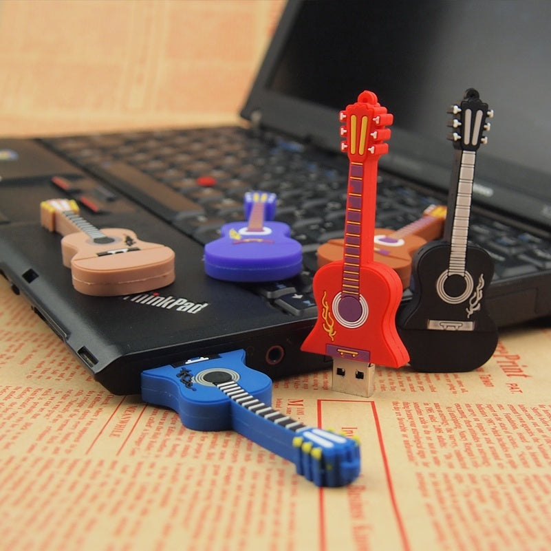 Music mini Guitar Pen Drive Five Types USB Flash Drive 4GB 8GB 16GB 32GB 64GB Pendrive USB 2.0 Cle USB for Gift Memoria USB