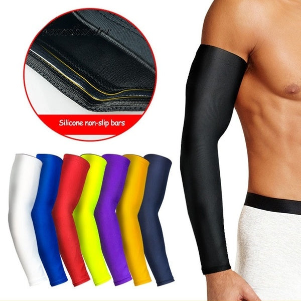 Basketball Arm Sleeves Lengthen Breathable Compression Arm Warmers Cycling Running Sunscreen Protection Arm Elbow
